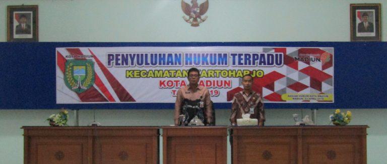 Penyuluhan Hukum Terpadu Kecamatan Kartoharjo Kota Madiun Tahun 2019