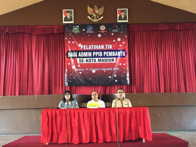 Pelatihan TIK Admin PPID Pembantu Se-Kota Madiun